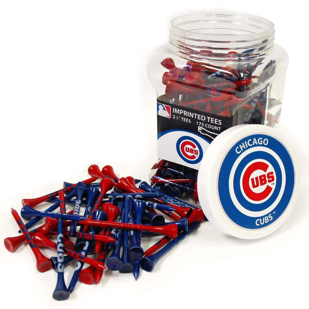 Team Golf MLB Chicago Cubs 2-3/4'' Golf Tees, 175 Pack, Regulation Size, Multi Team Colors