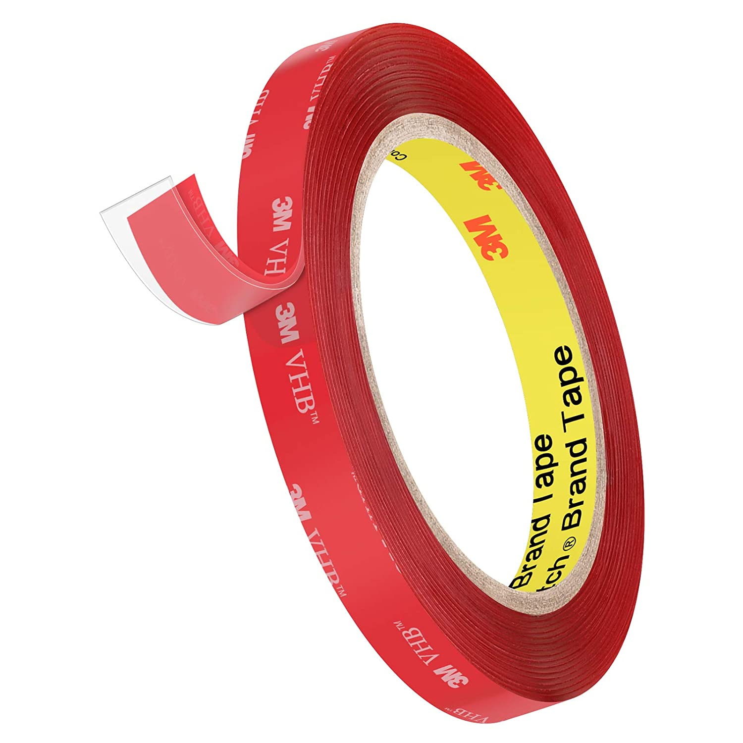 4910 Heavy Duty Double Sided Tape, Roseberry VHB Tape 16FT Length,1.1mm Thickness,0.5inch Width,Waterproof Mounting Tape for Car, Home Decor, Office Decor
