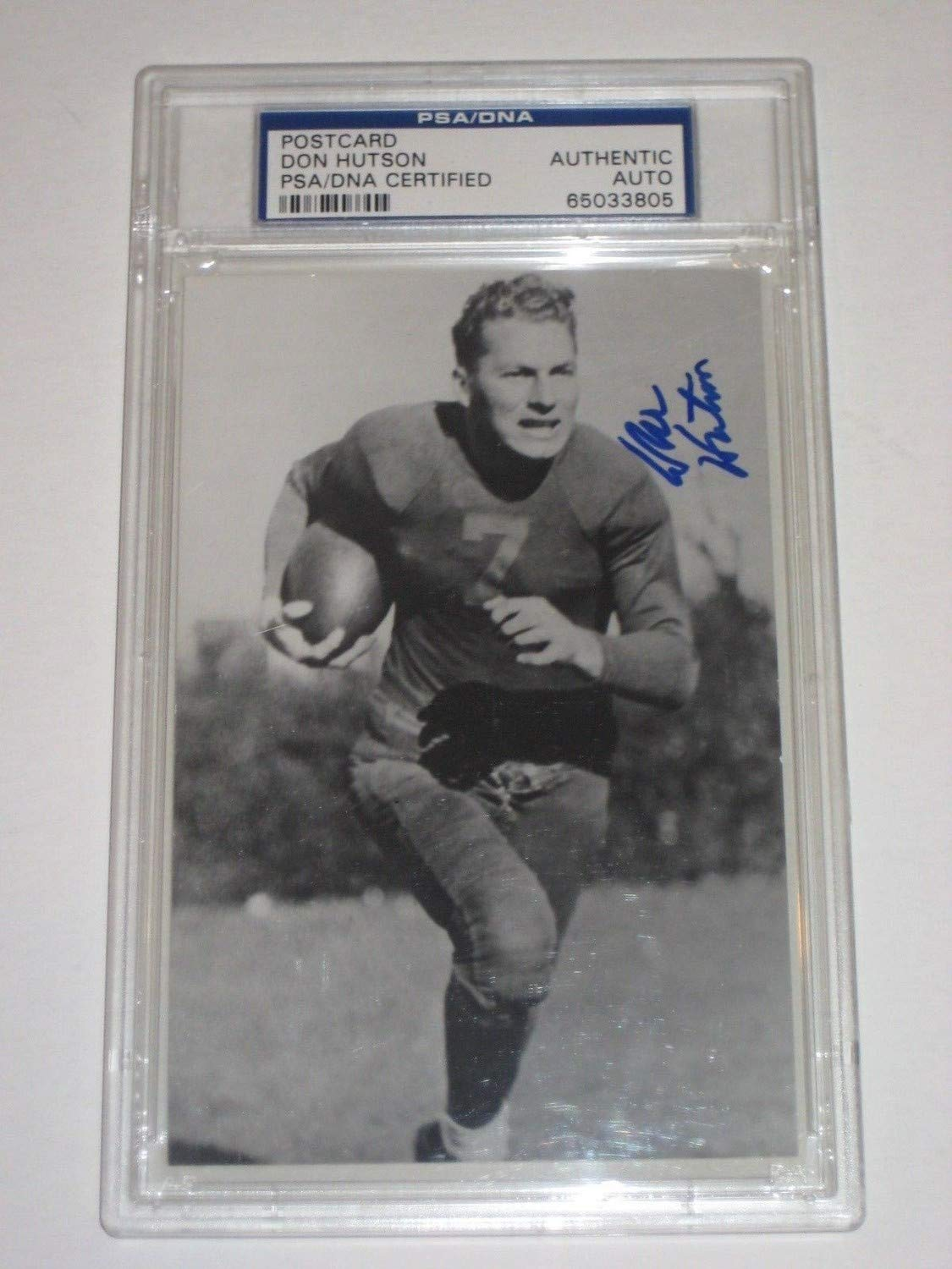 Don Hutson Packers Autographed Signed Postcard PSA/DNA Authentic