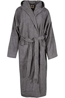 b5fa5959c8 Porter and Lambert Mens   Ladies 100% Egyptian Cotton Terry Towelling  Hooded Bathrobe Dressing Gown