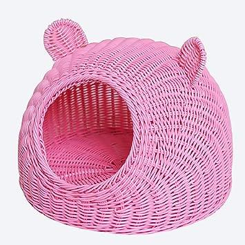 Nwn Ratón para Mascotas Cama Linda para Gatos Camas para Mascotas Tejidos a Mano (Color