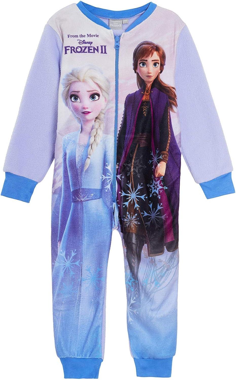 Disney Frozen 2 Ragazze Pigiama Tutina all in One Pjs Bambini Tuta Elsa Anna Pigiama