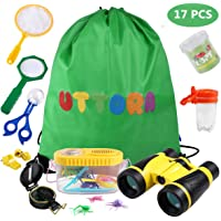 UTTORA Prismaticos niños,Kit de Binoculares para Niños ,Regalos