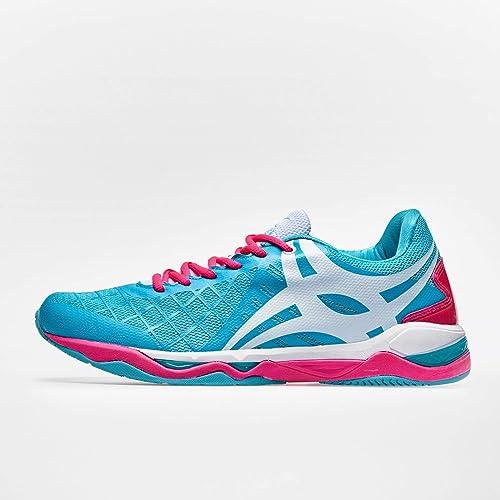 10d5470fc9bba Synergie Pro Netball Trainers - Aqua/Pink - Size 9.5: Amazon.co.uk ...
