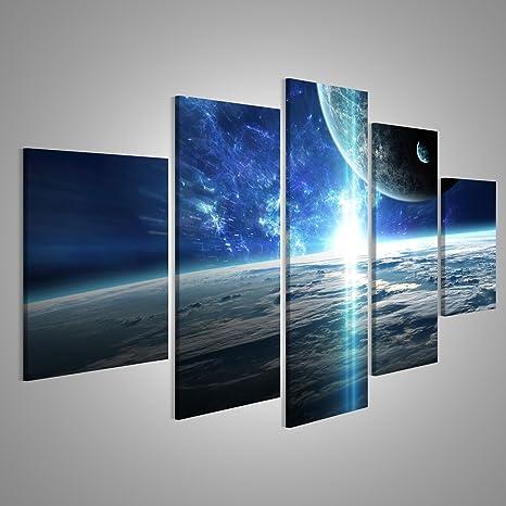 Weltraum Bilder Bild auf Leinwand Wandbild Poster