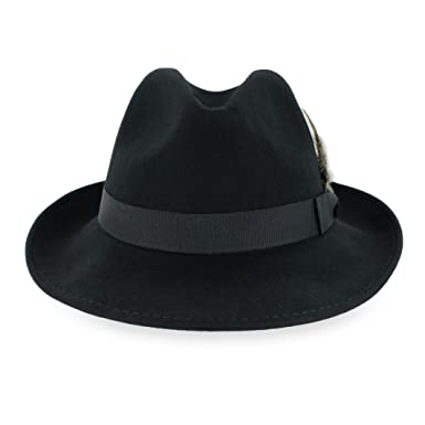 ef058d5e8dcce4 Belfry Crushable Dress Fedora Men's Vintage Style Hat 100% Pure Wool ...
