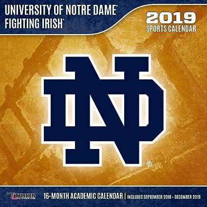Notre Dame 2019 Academic Calendar Amazon.com: 2019 Notre Dame Fighting Irish Wall Calendar, Notre