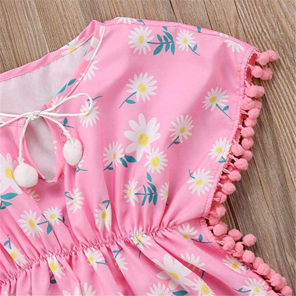 Toddler Baby Girl Floral Tassel Swim Cover-Up Bench Poncho Summer Sundress
