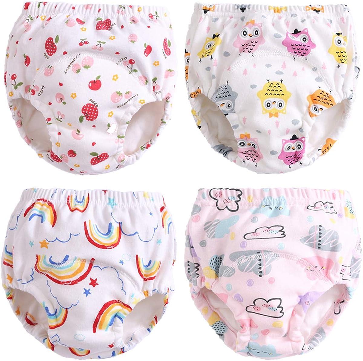 Culotte dapprentissage Lavables B/éb/é 3 pi/èces 70CM//10KG,Fruit Morbuy Coton Couche-Culotte Anti-Fuite Potty Pantalon de Formation Imperm/éables pour Gar/çon et Fille