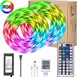 UMICKOO LED Strip Lights Kit,Waterproof 32.8ft RGB SMD 5050 LED Rope Lighting Color Changing Full Kit with 44-Keys IR…