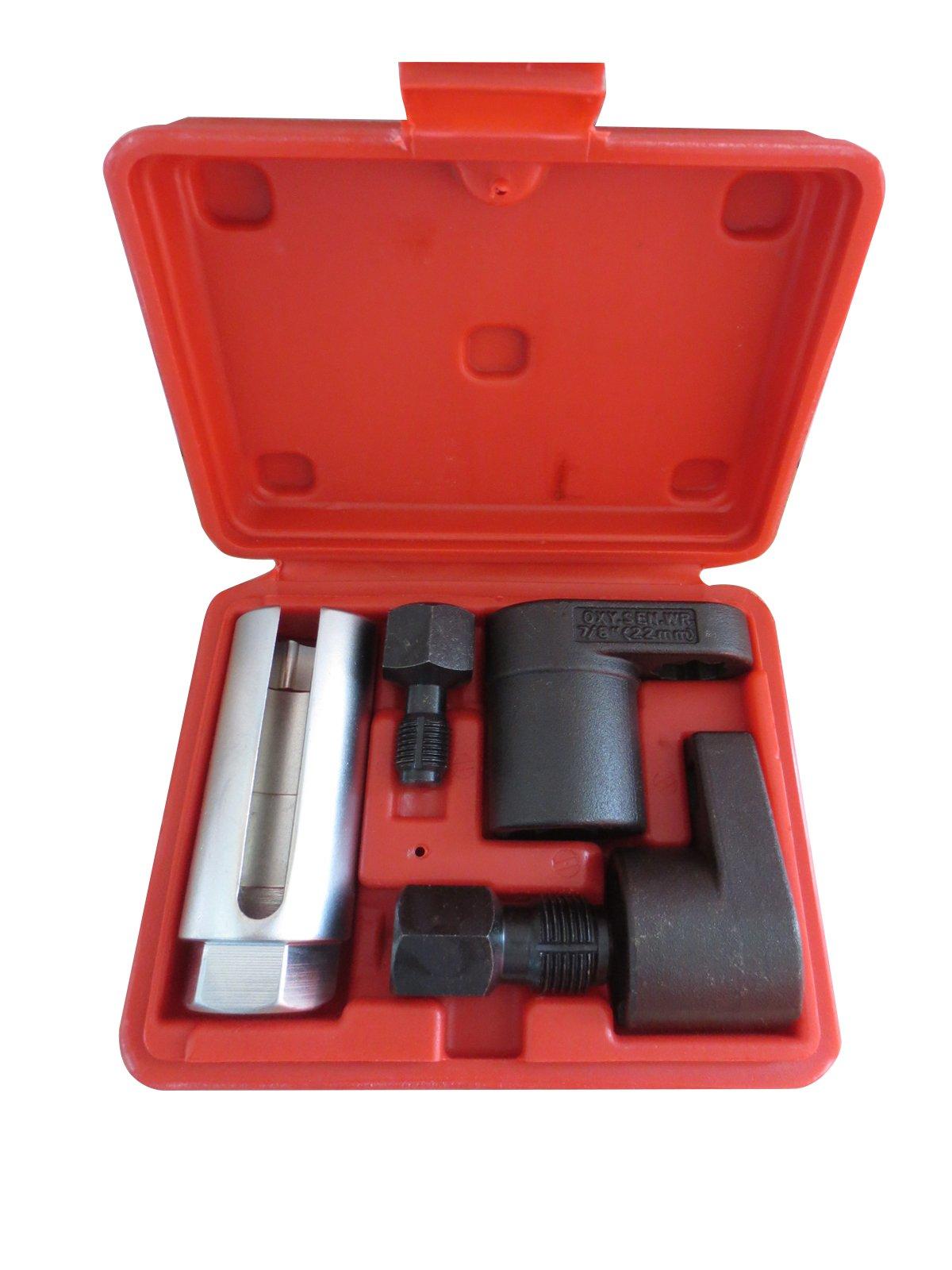WINMAX TOOLS AUTOMOTIVE 5PC 1/2'' 22mm Oxygen Sensor Socket Removal Thread Chasers Set Spark Plug