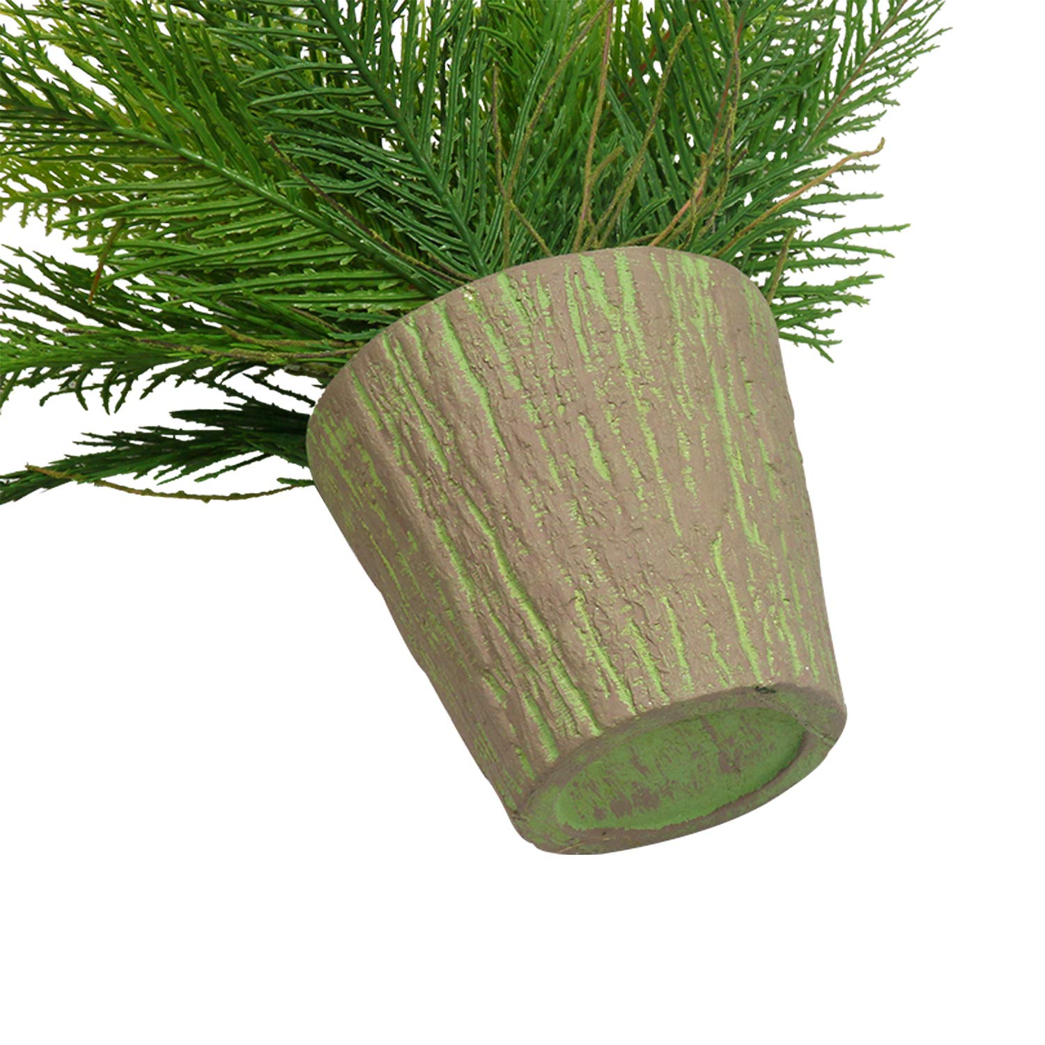 Eucalyptus SHACOS Large Artificial Potted Eucalyptus Plants 12x9 inches Set of 2 Potted Fake Green Plant Home Office Decor