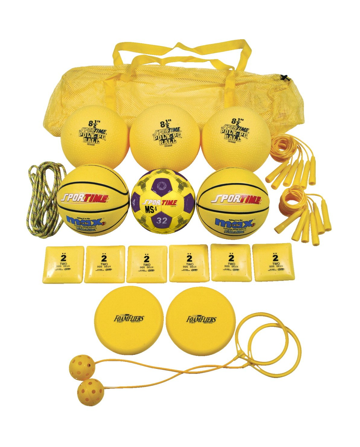 Sportime Recess Pack, Yellow, Grade 1, Set of 19-1281819 by Sportime