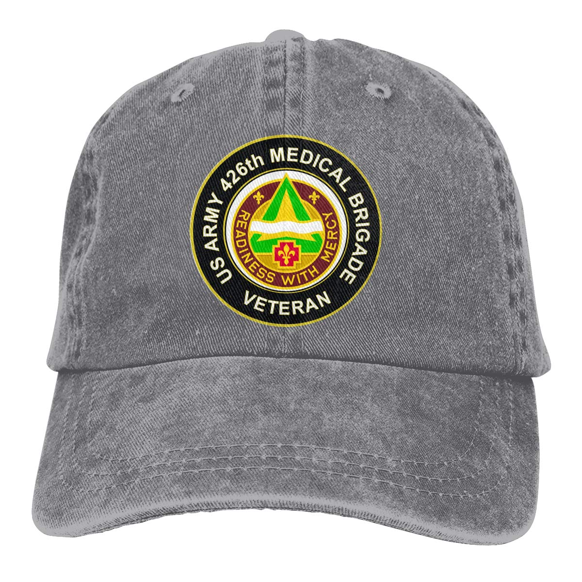 U.S Army 426th Medical Brigade Unit Crest Veteran Summer Cool Heat Shield Unisex Adult Cowboy Hat