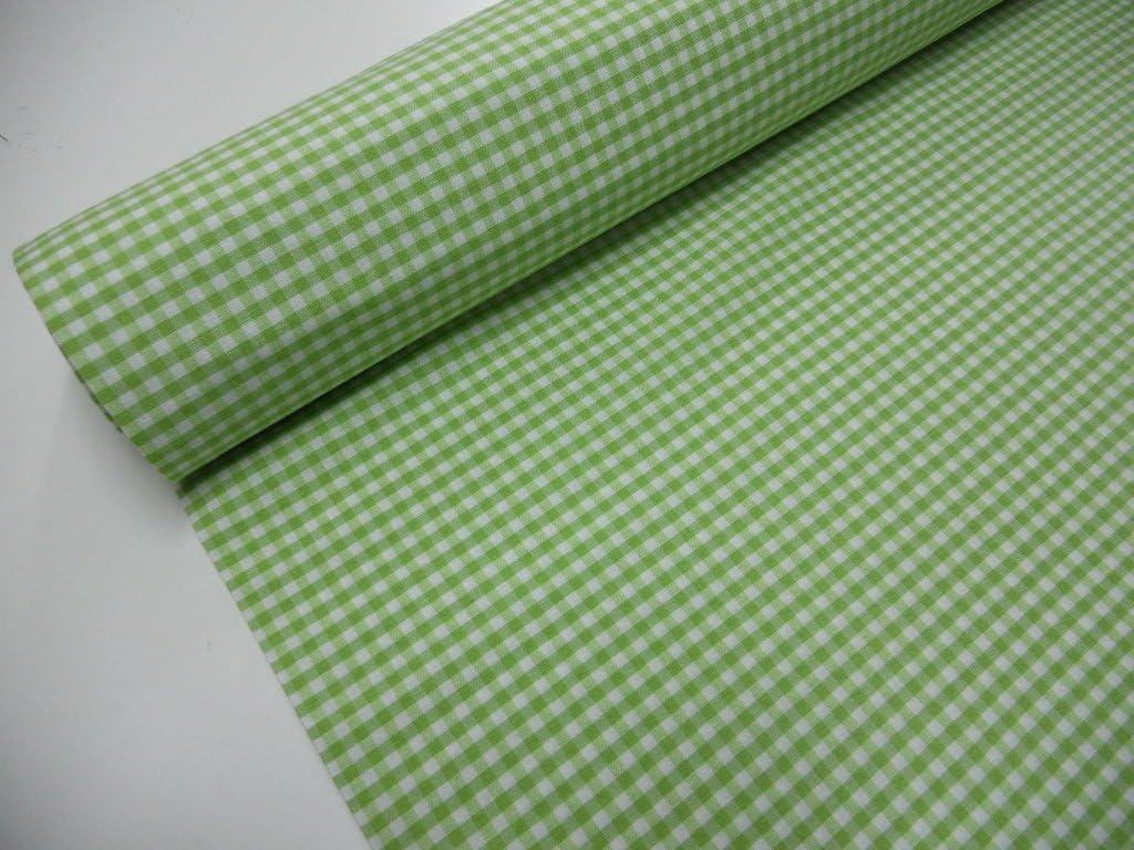 Confecci/ón Saymi Metraje 0,50 MTS Tejido Vichy con Ancho 2,80 MTS. Color Negro Cuadro peque/ño 5x5 mm