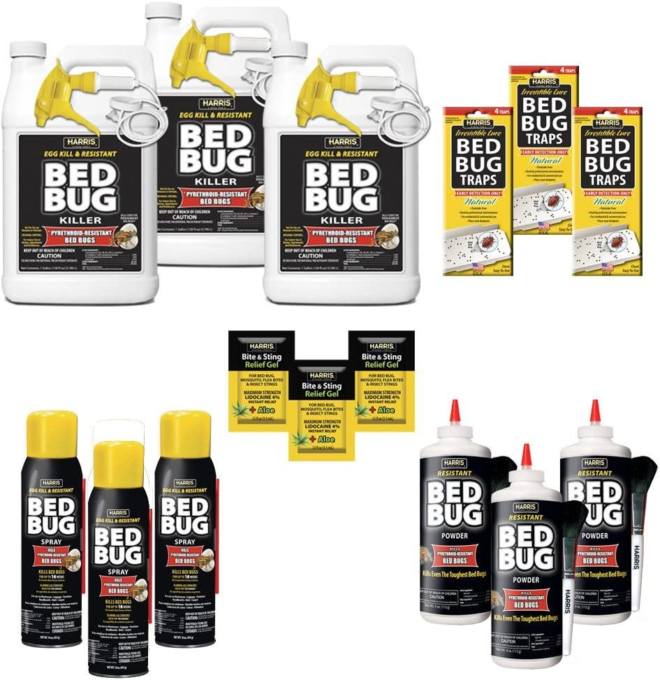 Amazon Com Harris Egg Kill And Resistant Bed Bug Pro Pack Kit Garden Outdoor