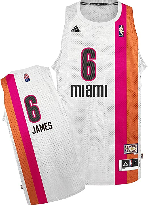 Amazon Com Miami Heat Floridians Adidas Lebron James Hardwood Classics Swingman Jersey M Basketball Jerseys Sports Outdoors