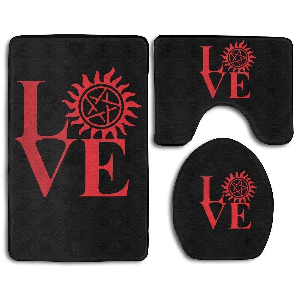 Meius Love Supernatural - Juego de alfombras Antideslizantes ...