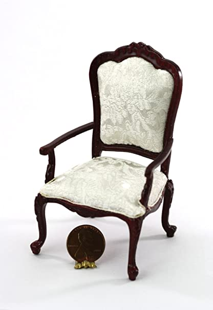 Vintage 1:12 Scale Miniature Furniture Dollhouse Hand Carved Pretty chair