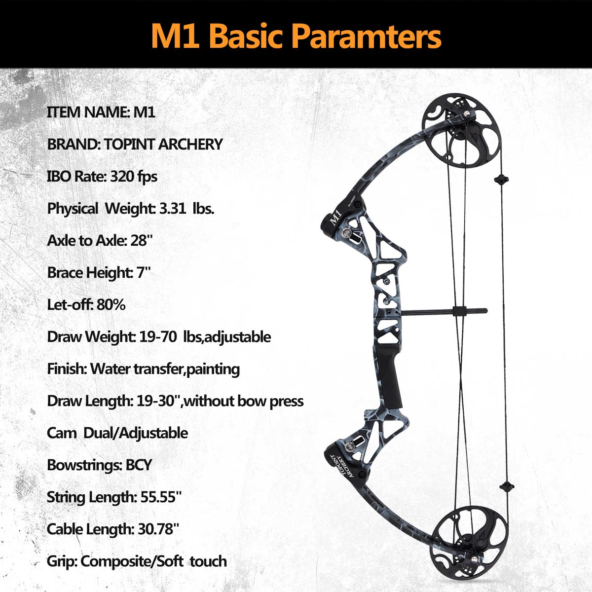 Amazon Com Compound Bow Kit Fully Adjustable 19 30 Draw 19 70 Lb