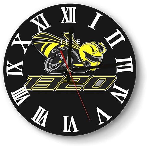 ERTMU Wall Clock Creative Silent Dodge-Scat-Pack-1320-Angry-Bee- Digital Clock for Home