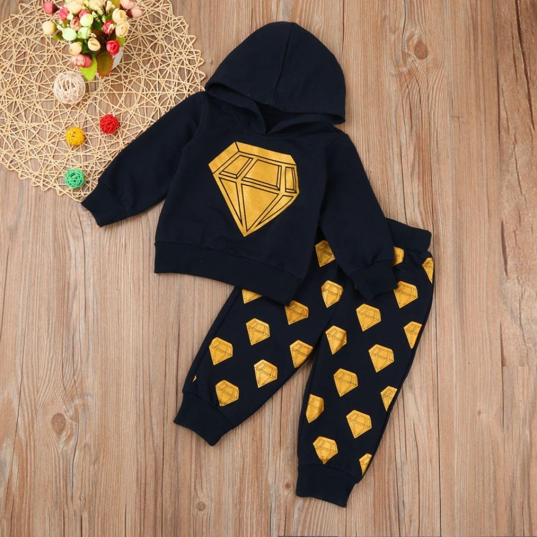 Long Pants Outfits Set Clothes SHOBDW Boys Clothing Sets Newborn Baby Boys Autumn Winter Toddler Hooded Tops