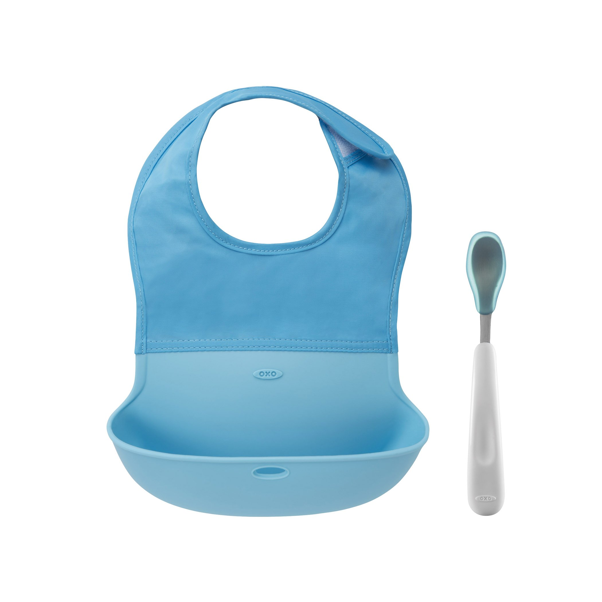 Amazon Com Oxo Tot Roll Up Bib And Silicone Spoon Set