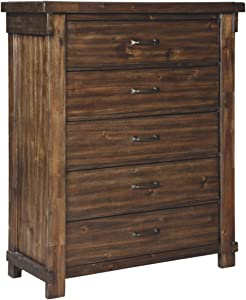 Signature Design By Ashley - Lakeleigh Five Drawer Chest - Brown
