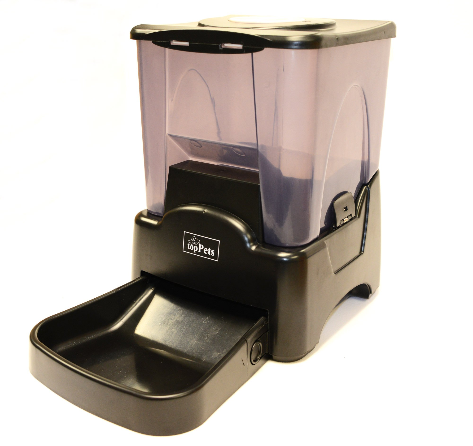 topPets Large Automatic Pet Feeder Electronic Programmable Portion Control Dog Cat Feeder w/LCD display