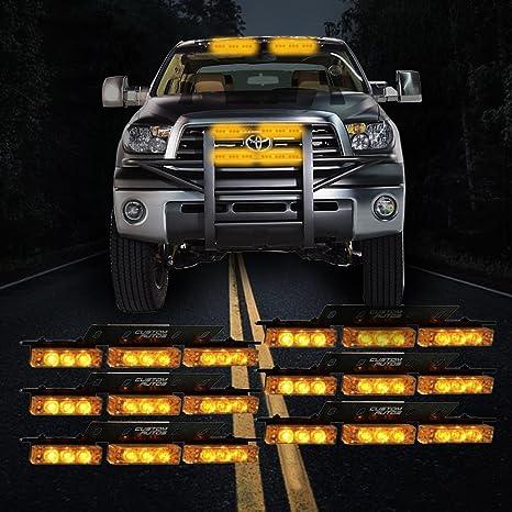 Custom Autos 54X LED Emergency Service Vehicle Deck Grill Warning Light   1  Set Ultra Bright