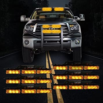 Custom Autos 54X LED Emergency Service Vehicle Deck Grill Warning Light   1  Set Ultra Bright