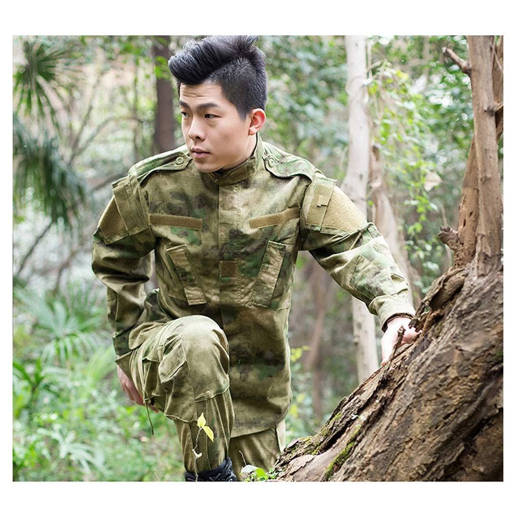 Green Ruin Tactical Suit, Verschleißfestes, winddichtes, wasserdichtes Jagdkampf-Langarmhemd und Multi-Pocket-Hose Trainingsanzug Sportklettern Mountain Camo (größe : XXL(190-195))