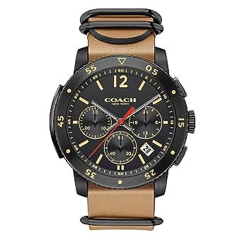 f7fb788318 Amazon.com: COACH Men's Bleecker Sport 44mm Black/Brown Watch: Watches