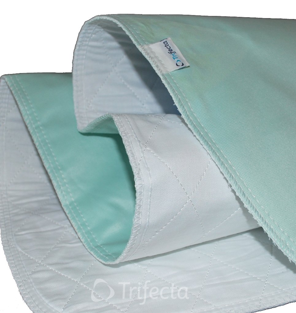 Underpad - Reusable, Machine Wash & Dry, Waterproof, Extra-absorbent for Adults and Children (36'' x 48'',Green) by Trifecta Linens (Image #1)