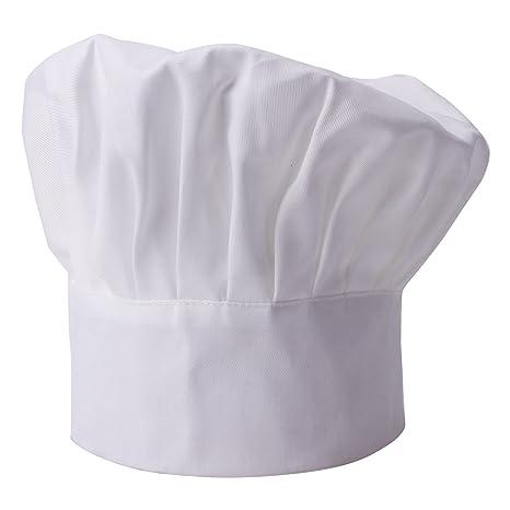 Cappello da Cuoco Berretto Donna Uomo Chef Hat Regolabile Ristorante Bar  Barbecue Caffeteria Hotel Cucina Bianco cbf3fc6614f4