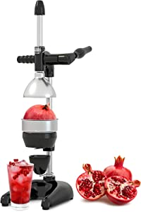 Tribest Pro MJP-105 XL Professional Manual Juice Cold Press Juicer for Pomegranate & Citrus, One-Size, Black