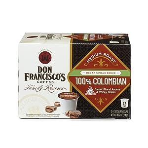 Don Francisco's 100% Decaf Colombia Supremo Medium Roast K-Cup, 12 ct