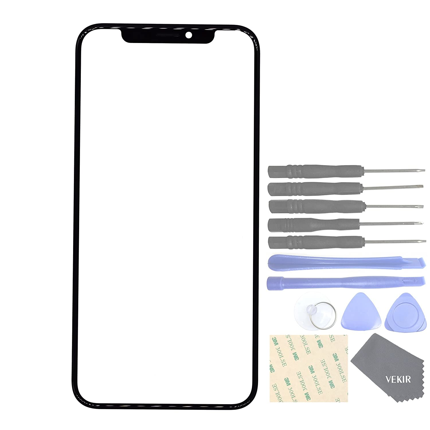 good VEKIR Screen Glass Lens Replacement with Cover Net for Speaker for Apple iPhone X