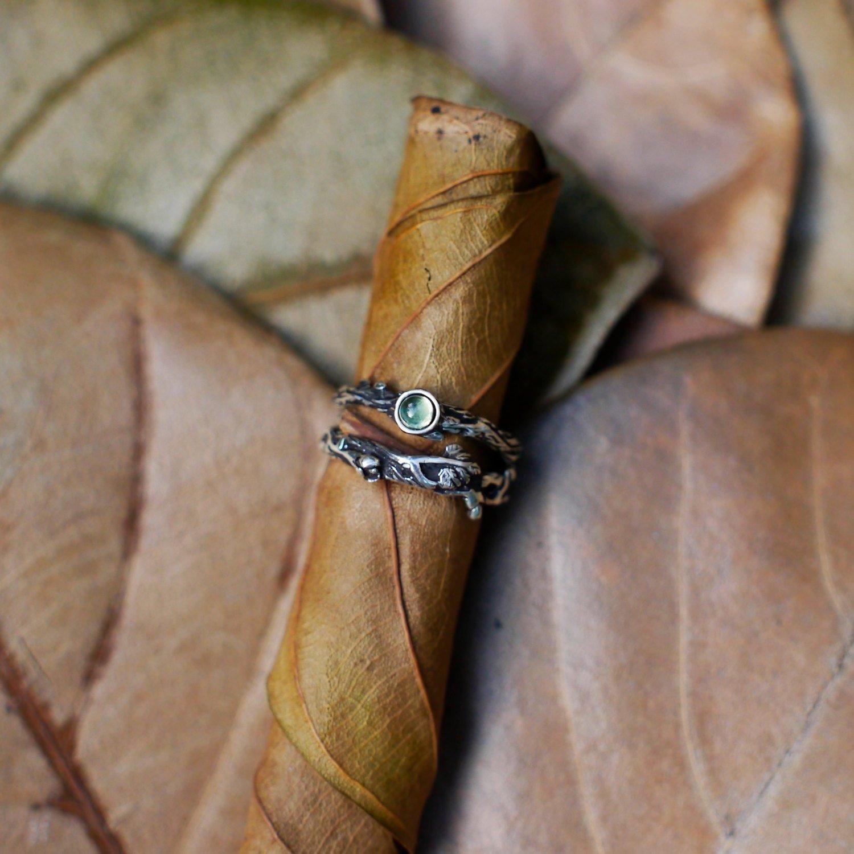 Set of 2 Dew+Mio Stack Ring Set READY TO SHIP Moonstone Engagement Set, Wedding Ring Set, jewelry set, Stacking Ring Set, moonstone ring set, wedding band