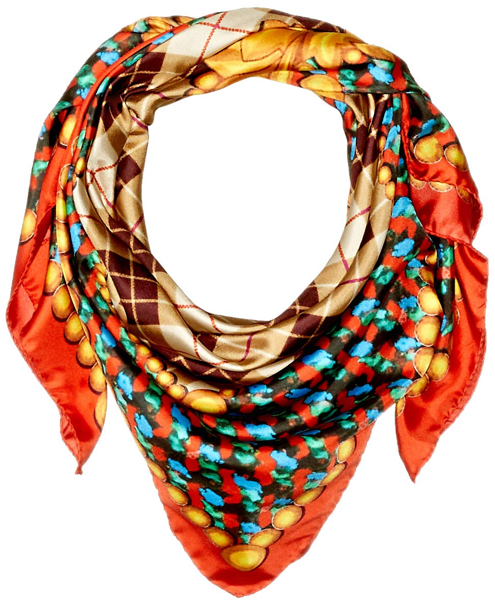 Lake Como SCARVES - Texture Barocco Scarves - Precious Red