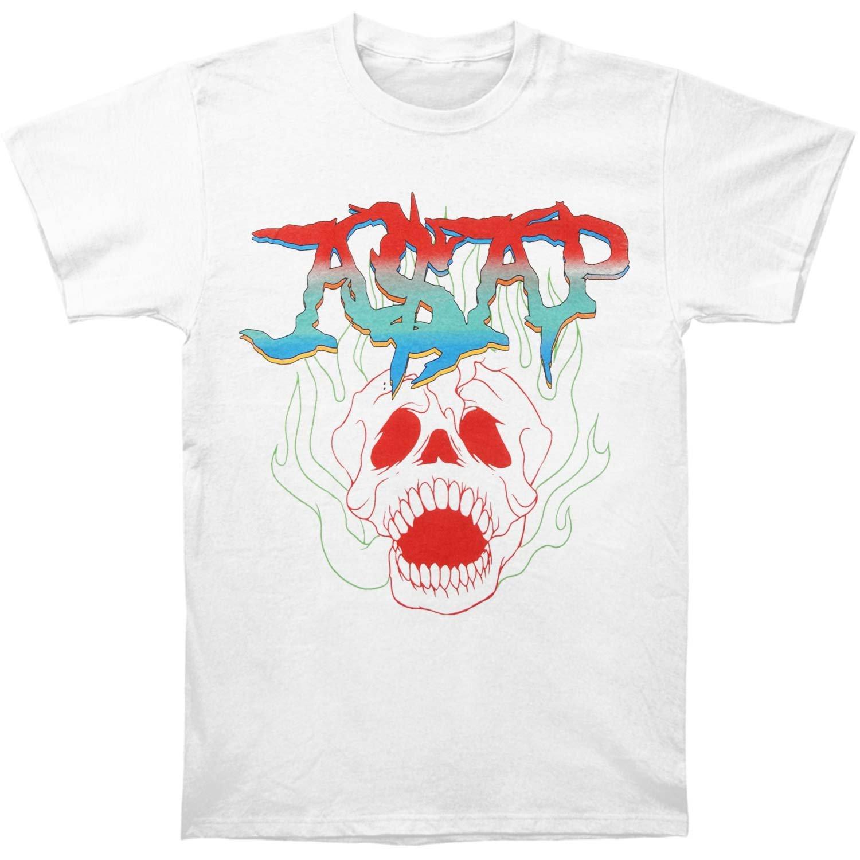 c582425774b Amazon.com  ASAP Mob Men s Skull T-Shirt White  Clothing