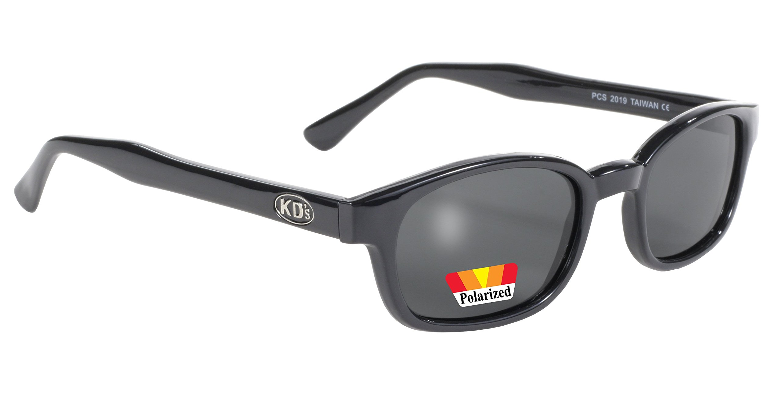 Pacific Coast Original KD's Polarized Biker Sunglasses (Black Frame/Dark Grey Lens)