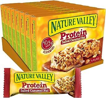 Nature Valley Proteína salada de caramelo, 8 unidades (8 x 160 g multipack con 4 barras de proteínas).