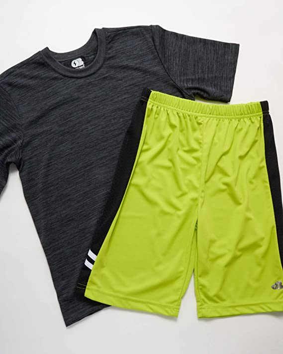 Only Boys 4-Piece Performance Sports T-Shirt and Short Set