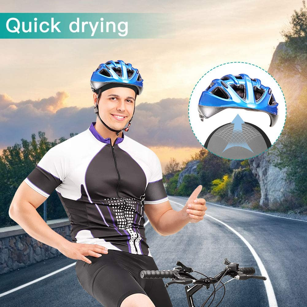 TAGVO Cycling Helmet Liner Skull Cap Breathable Quick Dry Summer Bicycle Sports Beanie Soft Elastic Under Helmet Hat Men Women Adults Cycling Helmet Cap for Motorcycle Running Cycling Fitness