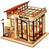 CUTEBEE Dollhouse Miniature with Furniture, DIY Dollhouse Kit Plus Dust Proof and Music Movement, 1:24 Scale Creative…
