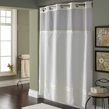 71 Inch X 74 Fabric Shower Curtain And Liner Set