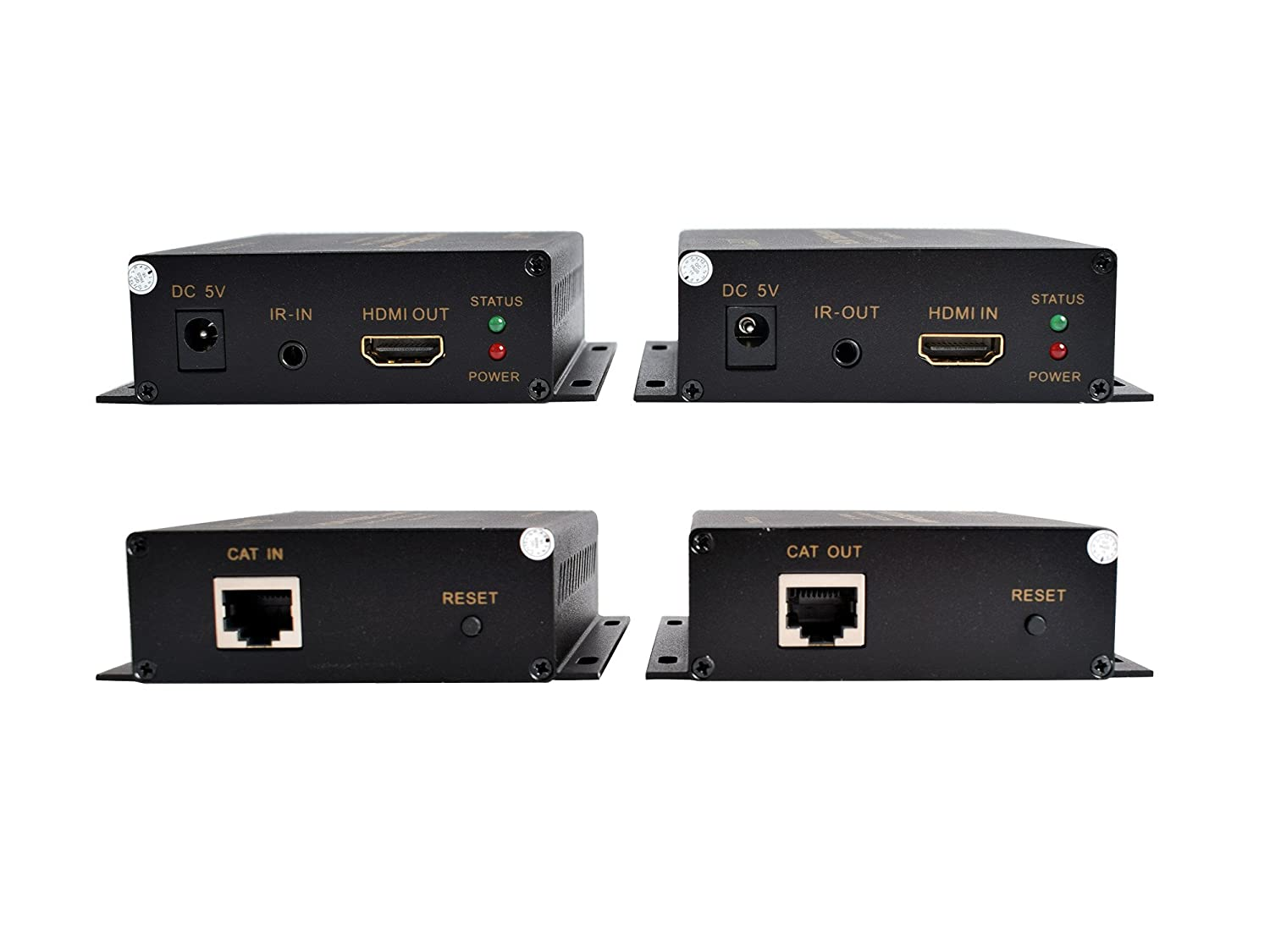 Amazon.com: ViewHD HDMI Extender Over CAT 5e|6|7 Cable (60M Extender Over  Single CAT Cable) | Model: VHD-HE60M: Computers & Accessories