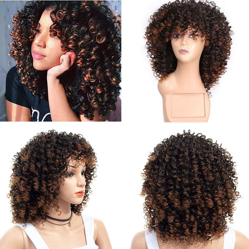 Perruque Afro Perruque à Capuche Grise Fluffy Explosion 40cm Rose Cheveux Net Perruque Lace