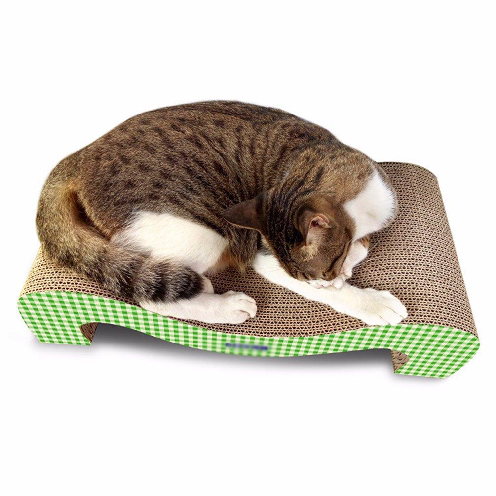 Yuncai Animale Domestico Gatto Divertente Giocattolo da Cura degli Artigli Durevole Onda Carta Ondulata Tiragraffi Cartone Verde